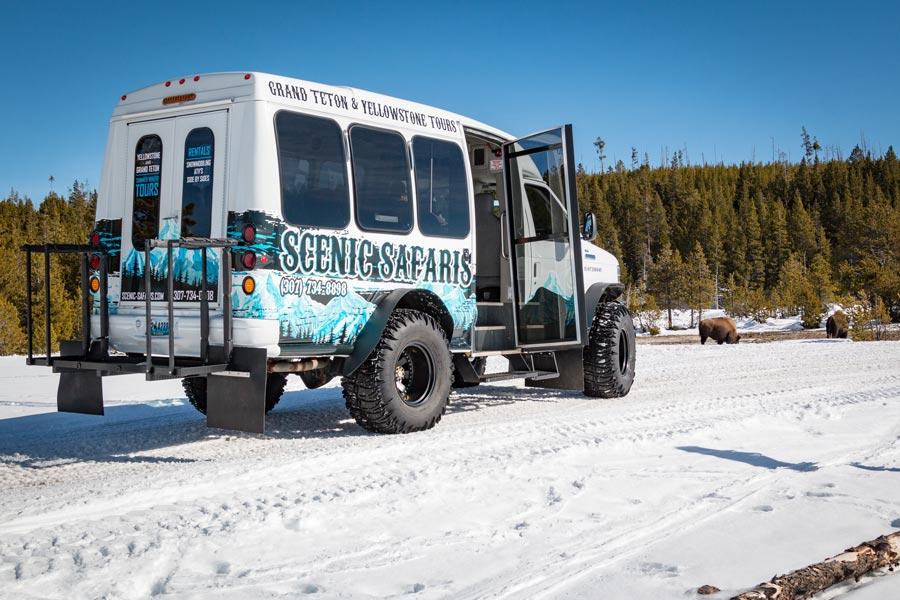 Yellowstone Snowcoach Tour Old Faithful By Scenic Safari